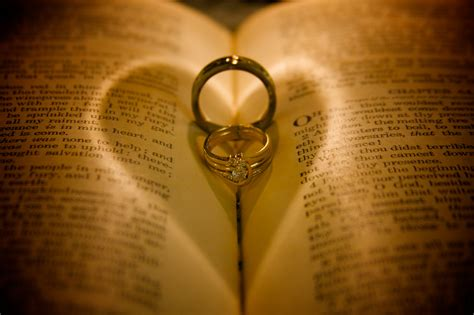 Wedding Rings On Bible by Chris West Will Write Foreword To Our Marriage Advice Book