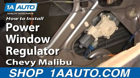 replace window regulator   chevy malibu youtube