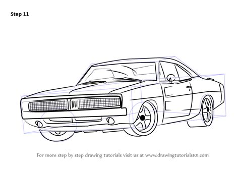 1970 dodge charger drawing learn how to draw a 1969 dodge charger cars step by step