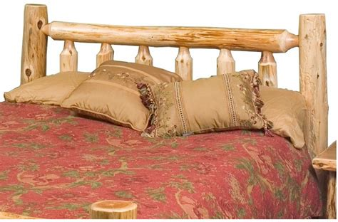 cedar headboard cedar log headboard hand peeled minnesota log furniture