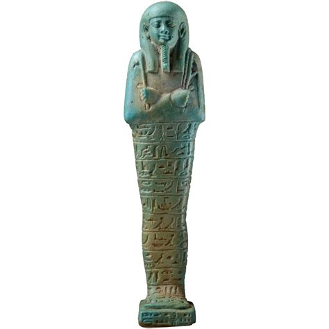 Home Interiors Figurines by Ancient Egyptian Faience Shabti Figure 570 Bc For Sale At