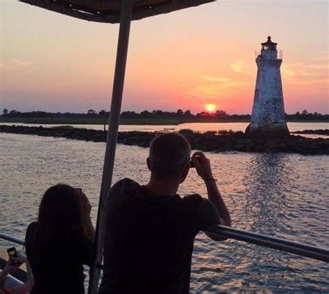 fan boat tour tybee island cockspur lighthouse at sunset picture of captain mike s