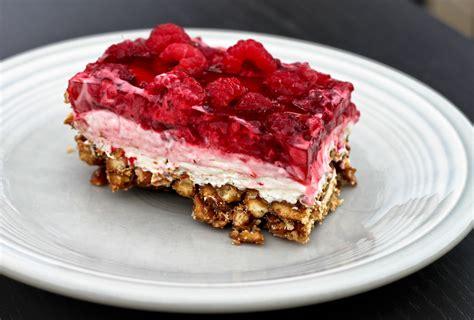 raspberry pretzel dessert best recipes evar