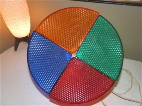 vtg mell rotating color wheel christmas light for aluminum