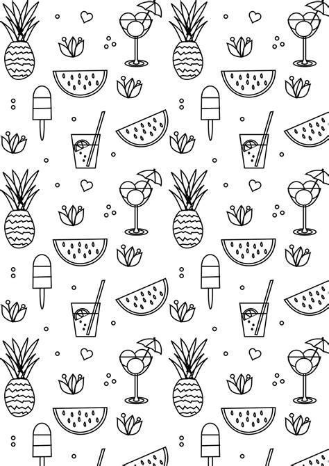 free summer coloring pages free printable summer coloring page ausdruckbare
