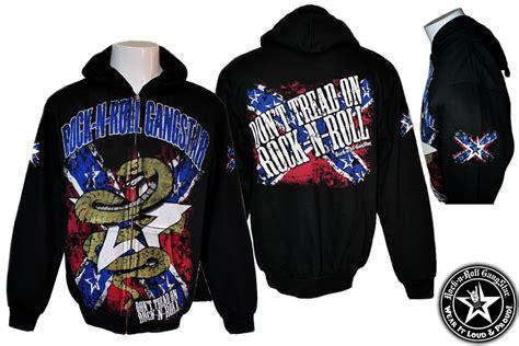 Hoodie Jaket Rock N Roll don t tread on rock n roll zip hoodie jacket sweatshirt heavy metal rock and roll clothing