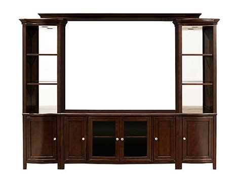 carlton entertainment wall units 4 pc entertainment wall west end 4 pc wall unit w 54 quot tv console and lighting