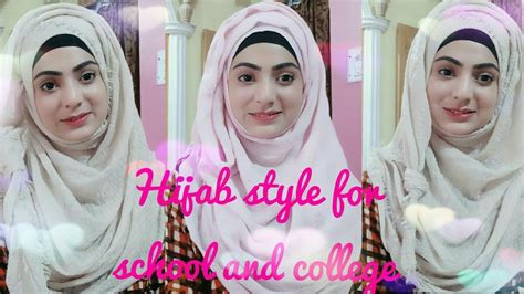 easy hijab style  school  college hijab clothes