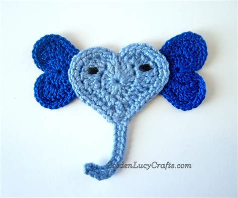 free patterns applique crochet crochet elephant applique free crochet pattern