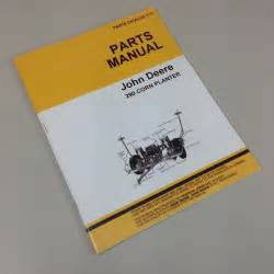 new deere 290 corn planter drill parts manual catalog