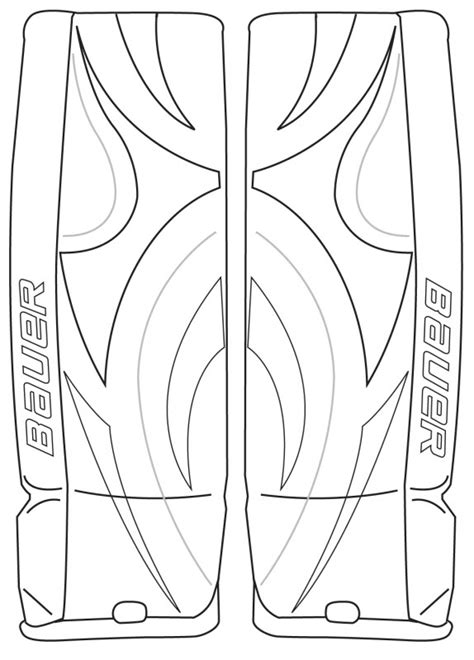 hockey goalie coloring pages