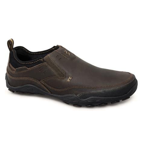 buy skechers pebble daley mens slip on leather shoes brown