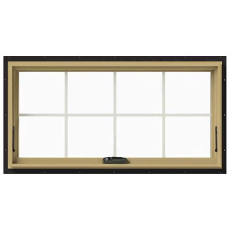 Jeld Wen Aluminum Clad Wood Windows Decor Jeld Wen 48 In X 24 In W 2500 Awning Aluminum Clad Wood Window Thdjw143300180 The Home Depot
