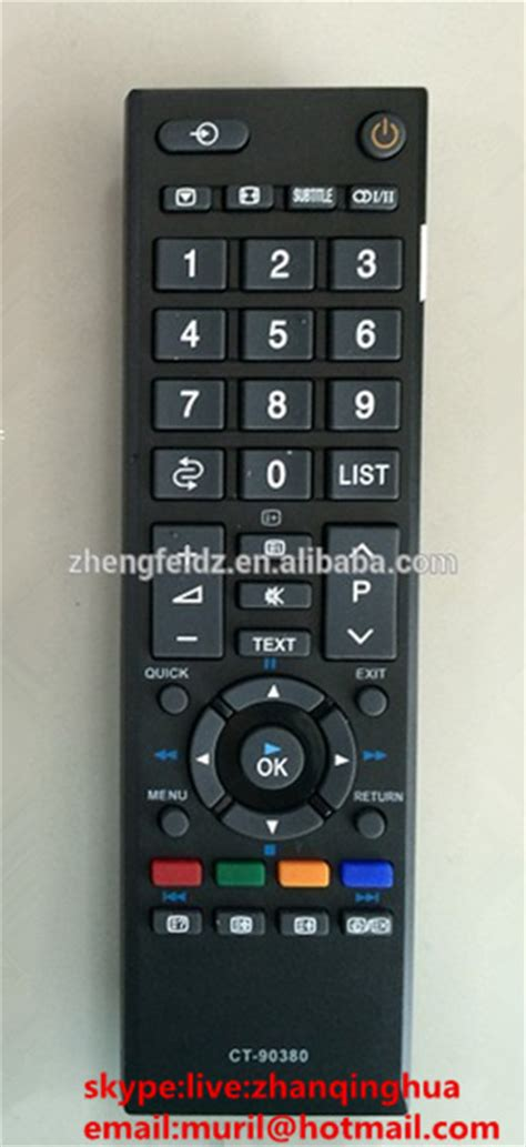 Remote Tv Lcd Led Toshiba Ct 90380 Kw 1 haute qualit 233 noir 50 touches lcd t 233 l 233 commande pour thomson etv dvd contr 244 le ct 90380