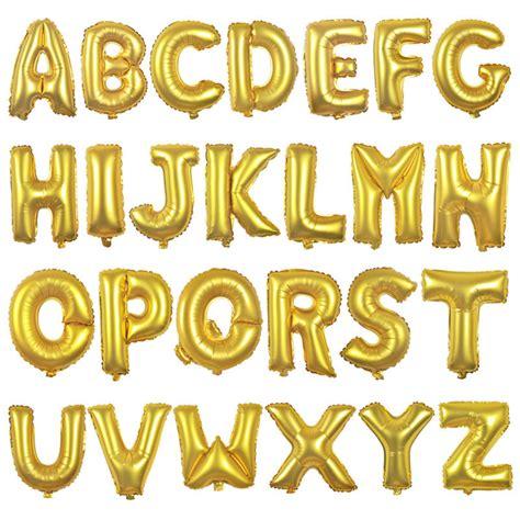 Balon Foil Letter gold alphabet letter balloons names letter number balloons