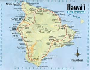 detailed map of big island of hawaii with roads vidiani