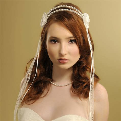 Handmade Headpieces - handmade madeleine wedding headpiece by rosie willett