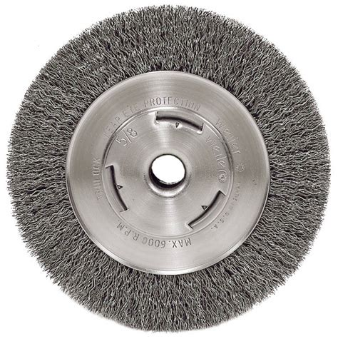 8 wire wheel for bench grinder atd 8350 6 quot crimped wire wheel atd tools inc
