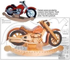 Wooden toys roarin motorcycle rocker woodworking plan home
