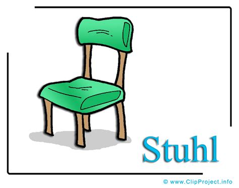 stuhl comic stuhl bild clipart free