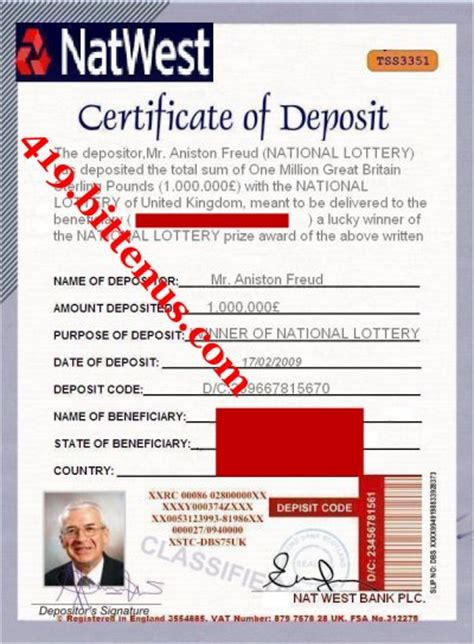 Certificates Of Deposit Uk