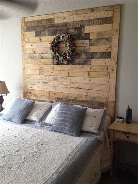 Headboard Made From Pallets 40 recycled diy pallet headboard ideas 99 pallets