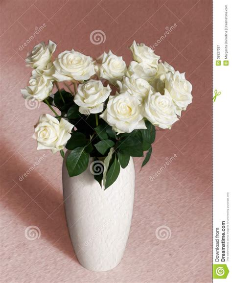 White Roses In Vase by White Roses In A Vase Stock Photo Image 38927037