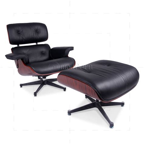 leather lounge chair and ottoman eames style lounge chair and ottoman black leather