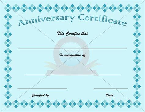anniversary certificate templates anniversary certificate template anniversary certificate