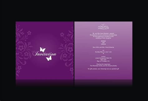 Invitation Card Design Template wedding card invitation free wedding invitations cards