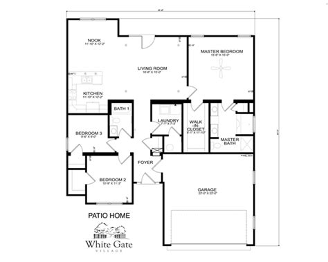 patio home floor plans free patio homes starting at 234 900 white gate village