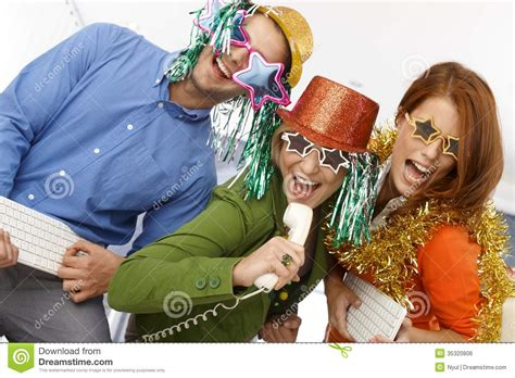 Office Years Joyful New Year S Office Band Royalty Free Stock Image