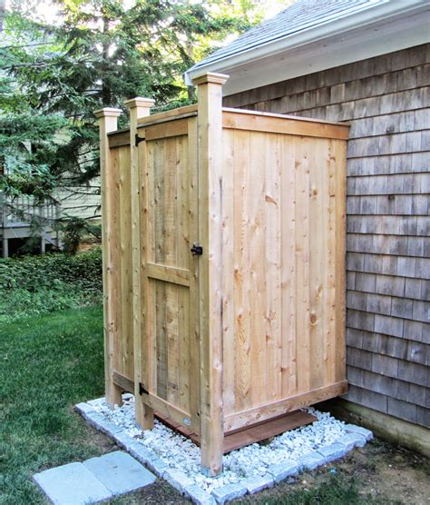 outdoor shower outdoor shower enclosure cedar showers ct nh ri vt me