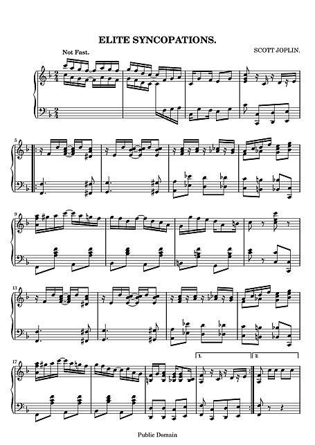 Elite Syncopations Original version - Piano - Sheet music