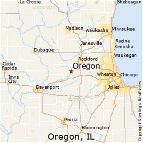 map of oregon illinois best places to live in oregon illinois