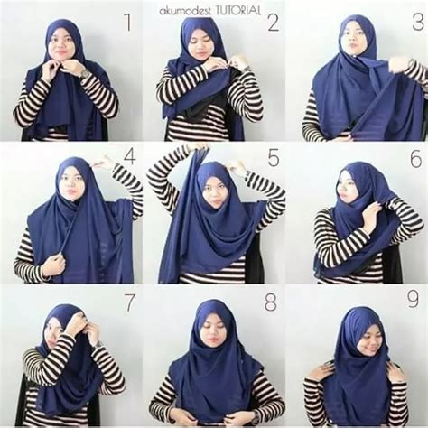 tutorial pashmina kaku 10 tutorial hijab menutup dada yang sopan anggun dan