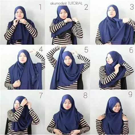 tutorial hijab segi empat tetap syar i 10 tutorial hijab menutup dada yang sopan anggun dan