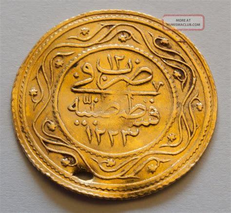 Ottoman Gold Coins Ottoman Empire Turkish Gold Coin Atik 199 Ifte Rumi Mahmud Ii 1819