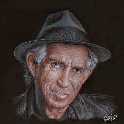 richard keith portrait of keith richards by andygill on stars portraits
