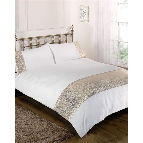 cream and gold bedding b m gt animal foil duvet set double cream gold 2943662
