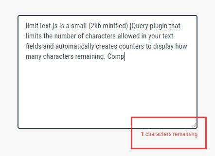 jquery layout complex js limit the number of characters in text fields jquery