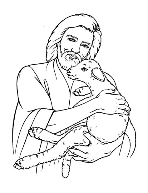 coloring pages jesus the good shepherd free christian coloring pages for kids children and