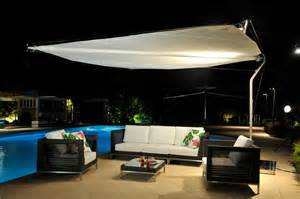 Canvas Sail Awnings Retractable Shade Sail Contemporary Patio Other