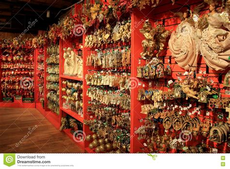 vast array of holiday ornaments on display in the