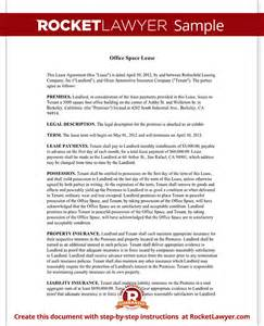 Office Space Lease Agreement Template office space lease form with sle