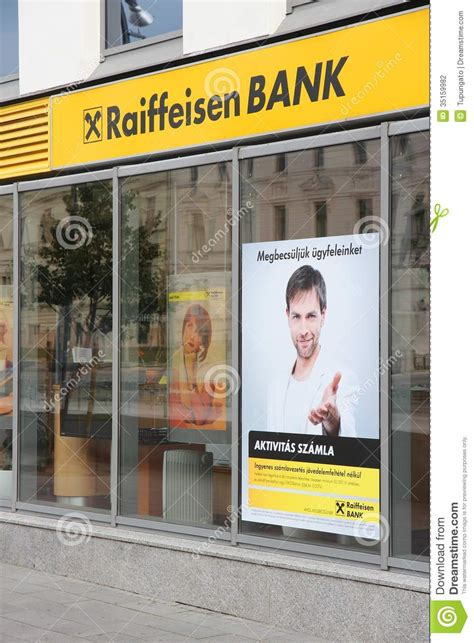 raiffeisen bank hungary raiffeisen bank hungary editorial photography image