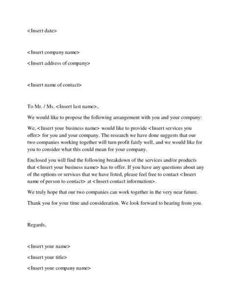 12 Business Proposal Sle Letters Word Excel Pdf Formats Business Plan Letter Template