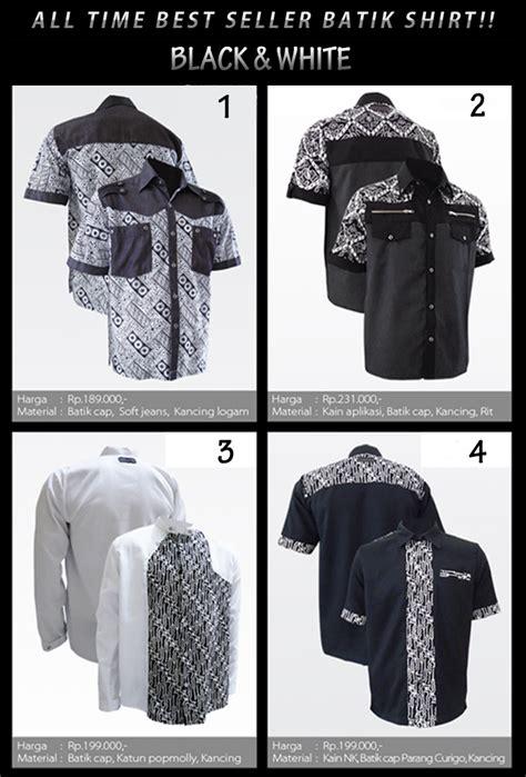 Kemeja Corak Putih Hitam best seller jaket dan kemeja batik medogh adalah warna hitam putih