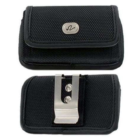 Rugged Cell Phone Holster by Horizontal Rugged Canvas Belt Clip Holster For