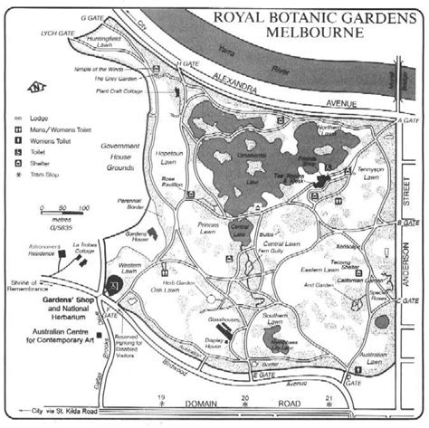 Map Of Melbourne Botanical Gardens Botanic Gardens Thumbnails